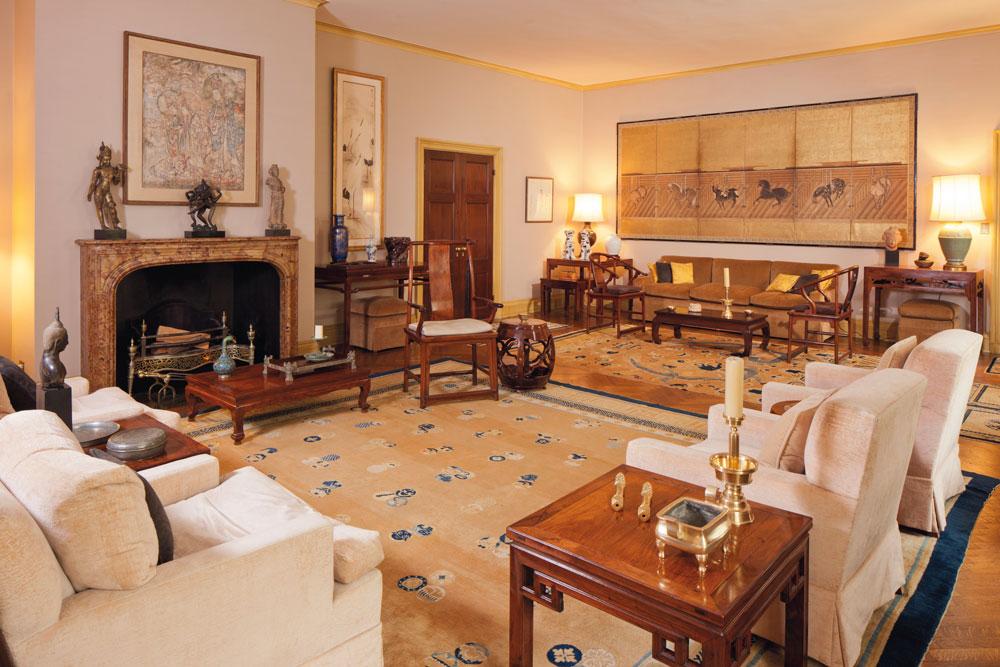 Robert Hatfield Ellsworth's 22-room apartment on Fifth Avenue in Manhattan