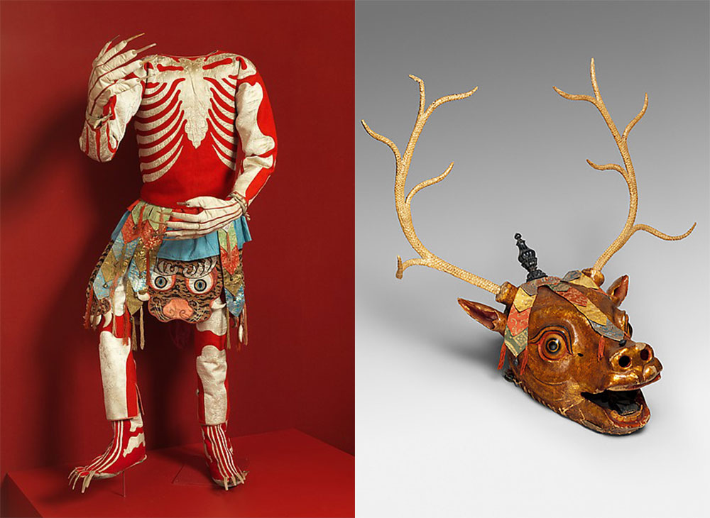 Mask and Costume from 'Sacred Traditions of the Himalayas' at the Metropolitan Museum of Art