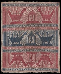 Tampan, ceremonial gift exchange cloth, Lampung, South Sumatra, 1850-1900, Samyama, Woven Connections