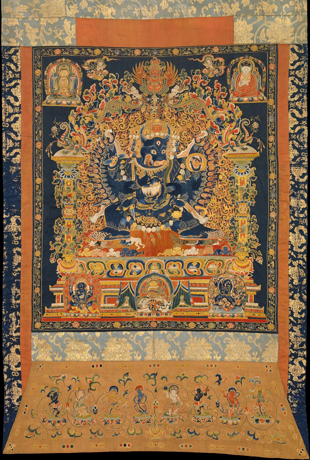 Embroidered Thangka from 'Sacred Traditions of the Himalayas' at the Metropolitan Museum of Art