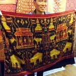 John Ang with a Cambodian pidan, Woven Connections Samyama