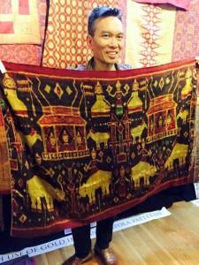 John Ang with a Cambodian pidan, Woven Connections Samyama