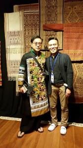 John Ang with Thummanit Phuvasatien, textile collector and designer, Chiangmai, Woven Connections, Samyama
