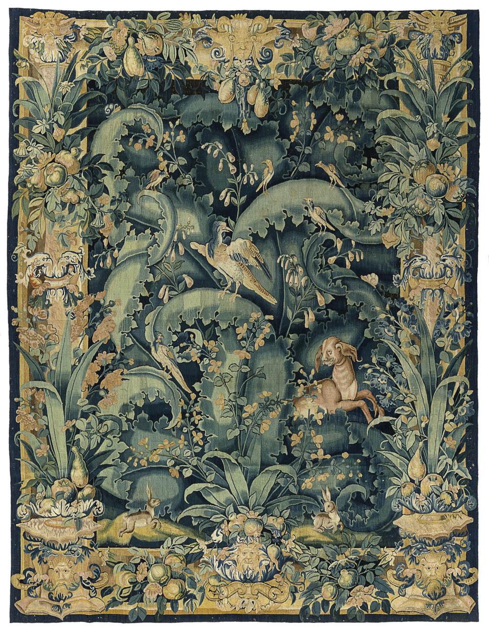 BRAFA, De Wit Fine Tapestries, 'Feuilles de choux'