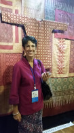 Barbara Johnson, textile collector and member of the Indonesian Heritage Society Jakarta, Woven Connections, Samyama