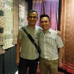 John Ang with Sakchai Guy, Bangkok textile collector and chief editor of Lip Magazine, Woven Connections, Samyama