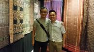 John Ang with Sakchai Guy, Bangkok textile collector and chief editor of Lip Magazine, Woven Connections, Samyama