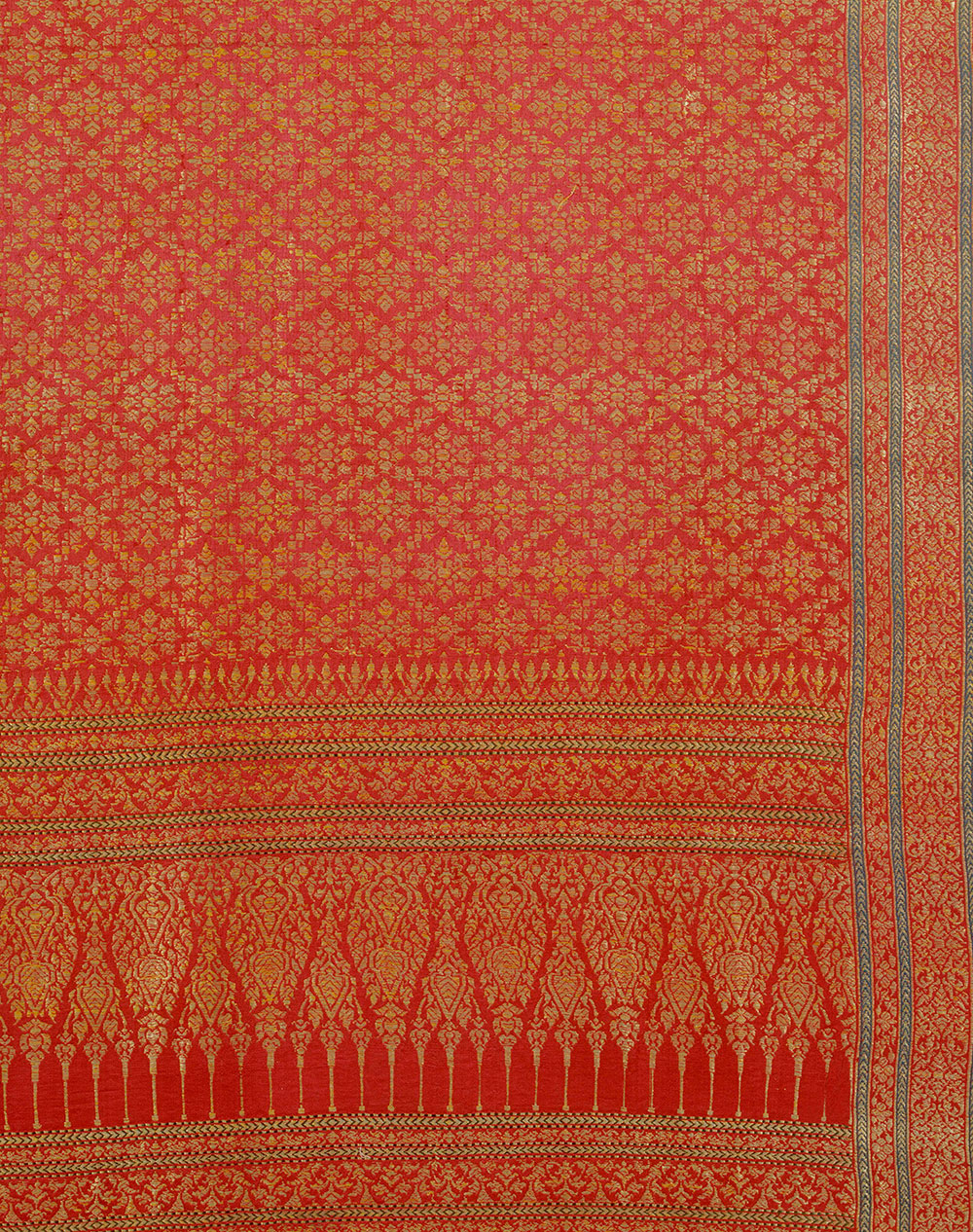Ceremonial cloth woven silk and gold-wrapped thread Gujarat for the Thai market 19th century, Victoria and Albert Museum, London