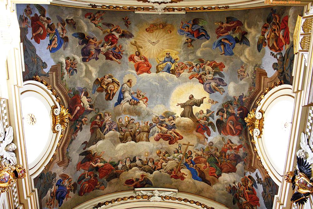 Fresco in the church at the Monasterio de las Descalzas Reales, Madrid, day 5