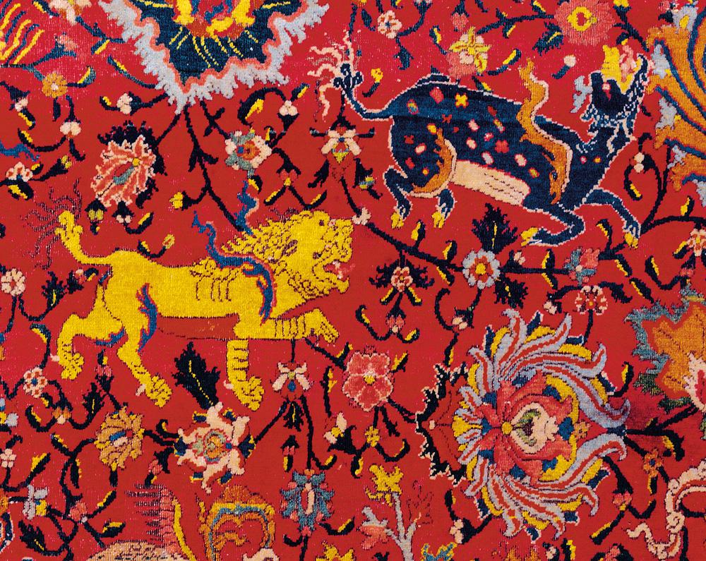 Safavid animal and tree carpet fragment, 16th century, Museu Nacional de Arte Antiga, Lisbon, day 1