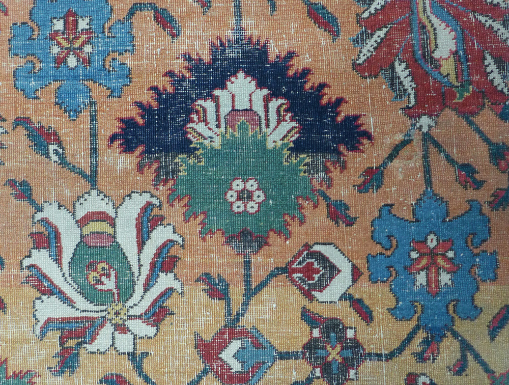 Safavid vase carpet fragment (detail), V&A archives