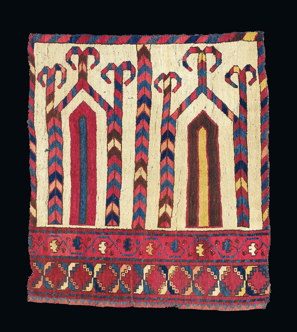 Lot 114, A Bukhara Saf Fragment, Uzbekistan, circa 1880, estimate £30,000-50,000, Christie's