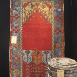 Ladik prayer rug, central Anatolia, 19th century, Ramezani, London, HALI at Olympia