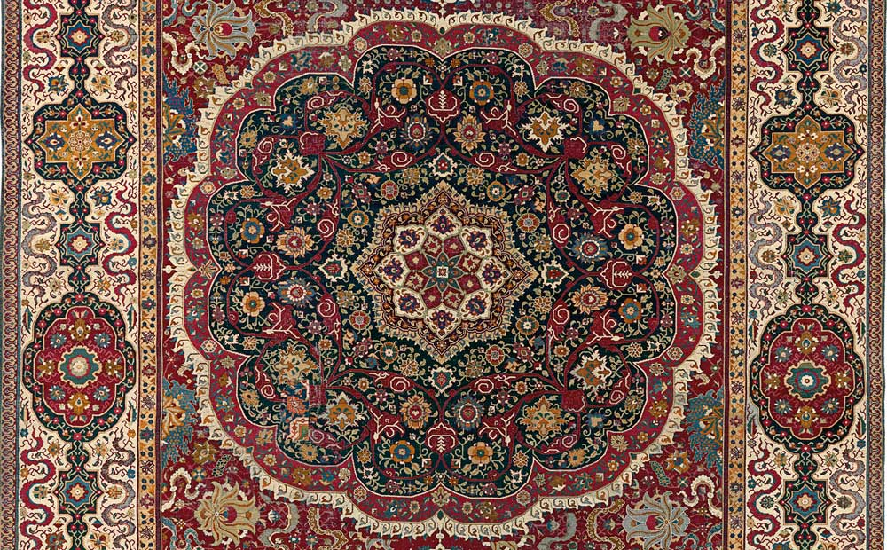 India–Spain, Trinitarias carpet (detail), National Gallery of Victoria, Melbourne