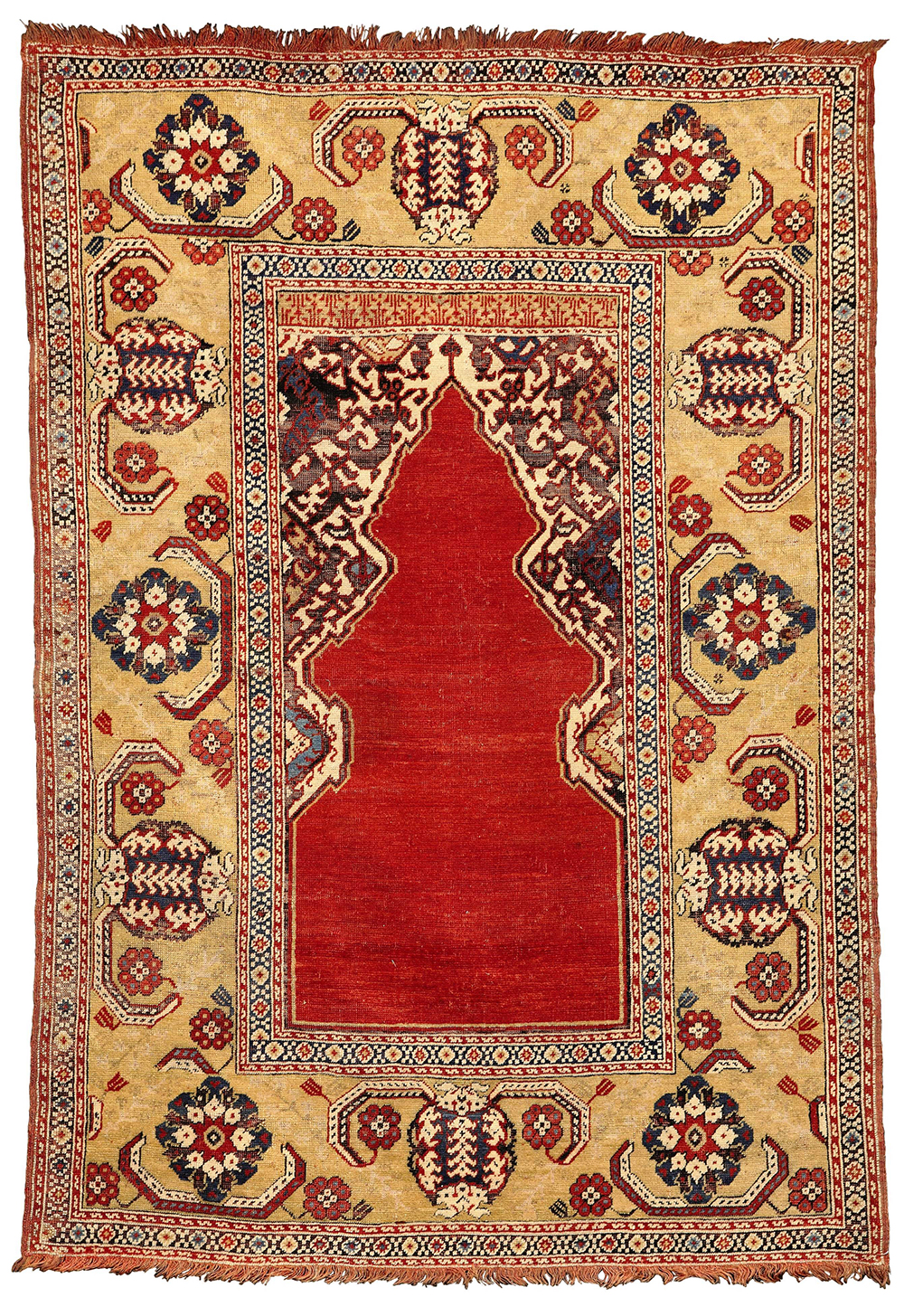 Lot 50, PROPERTY FROM THE COLLECTION OF THOMAS AND GWEN FARNHAM, A 'Transylvanian' prayer rug, West Anatolia, 17th century