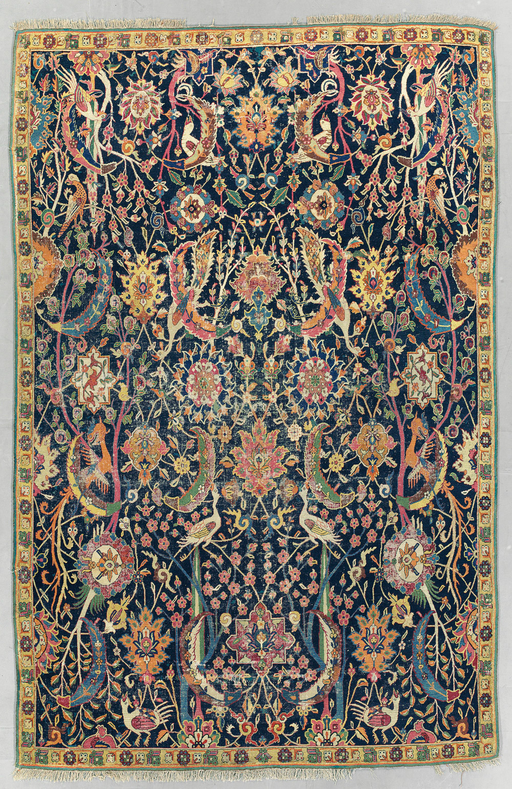 "Kerman 'vase' carpet fragment, southeast Persia, early 17th century. 1.96 x 3.06m (6'5"" x 10'1""). £400,000-600,000"