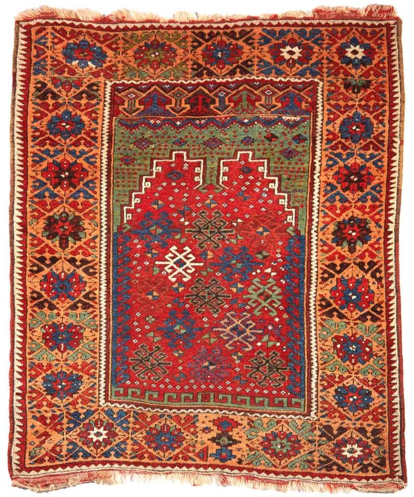 MUDJUR-Gebetsteppich,-146-x-120-cm,,-um-1800,