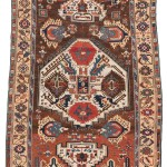 Sivas carpet, Central Turkey, early 19th century.Good condition; wool warp, wool weft, wool pile; 247 x 143 cm (8ft. 1in. x 4ft. 8in.). Lot 120, Austria Auction Company, Vienna, 20 April, estimate € 8.000 – 12.000