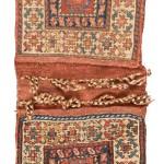 Complete Shahsavan sumak khorjin, west Persia, circa 1870. Excellent condition, 70 x 30 cm (2ft. 4in. x 1ft.), wool warp, wool weft. Lot 28, Austria Auction Company, Vienna, 30 April, estimate € 1.200 – 1.600