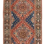 Ghirlandaio rug, Bergama, west Trukey, early 19th century. Good condition, several repairs, ends rewoven; wool warp, wool weft, wool pile; 300 x 175 cm (9ft. 10in. x 5ft. 9in.). Lot 83, Austrian Auctions, Vienna, 20 April, estimate € 5.000 – 7.000