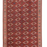 Yomut Turkmen carpet, ca. 1800. Good condition, areas with low pile, wool warp, wool weft, wool pile; 303 x 172 cm (9ft. 11in. x 5ft. 8in.). Lot 85, Austria Auction Company, Vienna, 20 April, estimate € 18.000