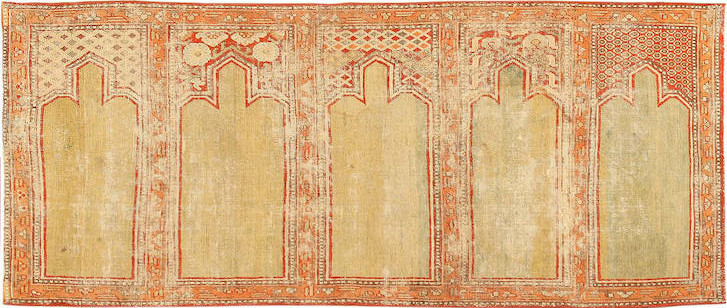 Lot. 1164. Yarkand silk saf, Xinjiang, 19th century. Sold for $13,750