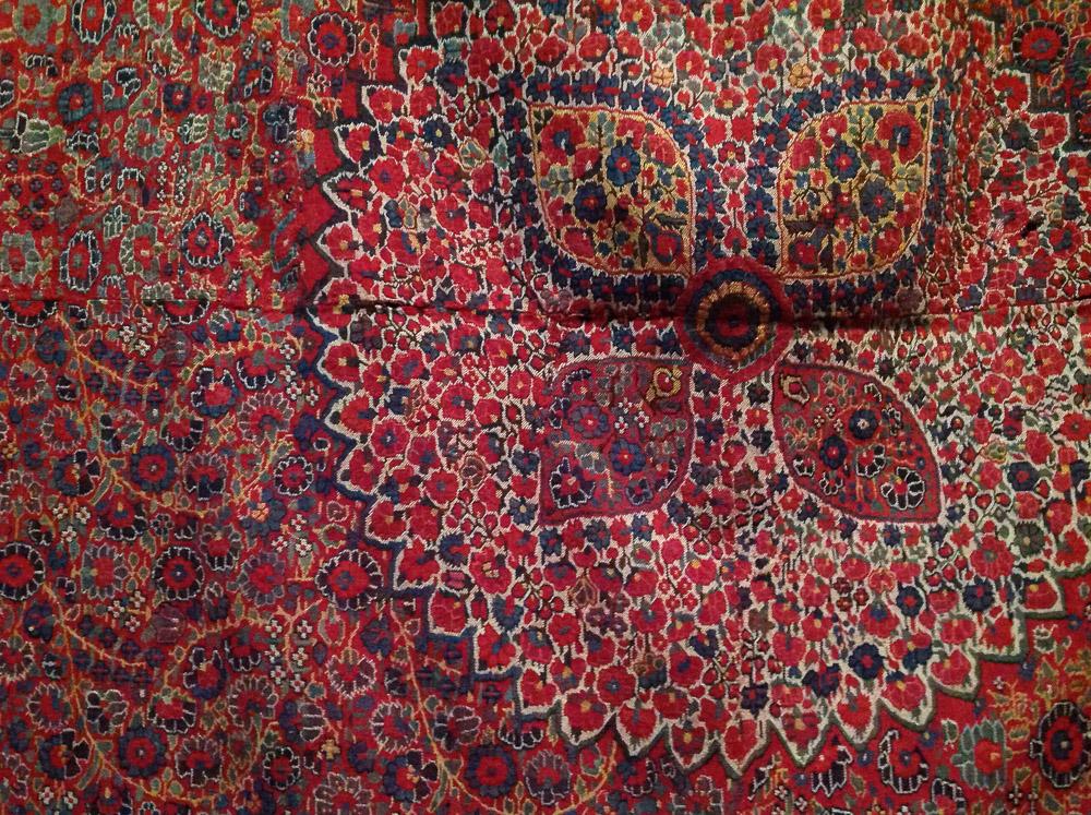 Cashmere shawl (detail), 19th century, in the stores at Shalva Amiranashvili Museum of Fine Arts, Georgian National Museum, Tbilisi