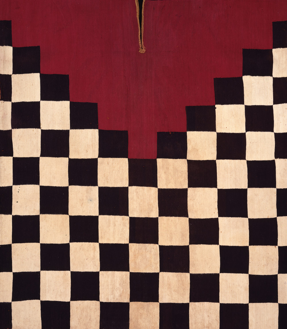 Tunic with Checkerboard Pattern, Inca culture, Southern Highlands, Lake Titicaca region, A.D. 1450–1550. Plain warp and weft tapestry weave with embroidery; cotton and camelid wool, 26 3/4 × 22 5/8 × 3 3/8 in. (68 × 57.5 × 8.6 cm). Private collection