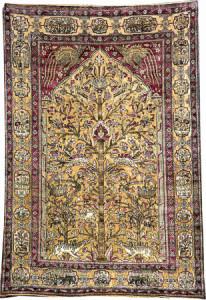 Lot 7072 Silk Mohtashem Kashan rug, 19t h century. Henrys Auktionshaus, 11 June, estimate €2,000.