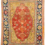 Lot 7119 Transylvanian double-niche rug, west Anatolia, 17th century. Henrys Auktionshaus, 11 June, estimate €3,000.