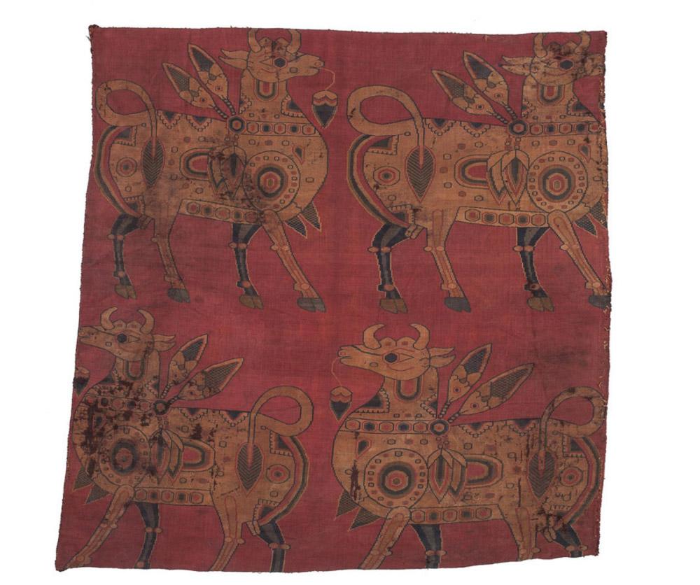 Carlo Cristi, silk, Central Asia, 8th century, 60 x 60cm