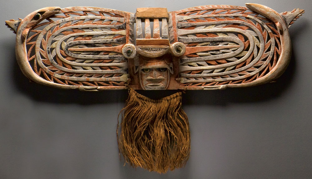 Malagan display mask, Northern New Ireland, Papua New Guinea, probably 19th century. Collection of Valerie Franklin
