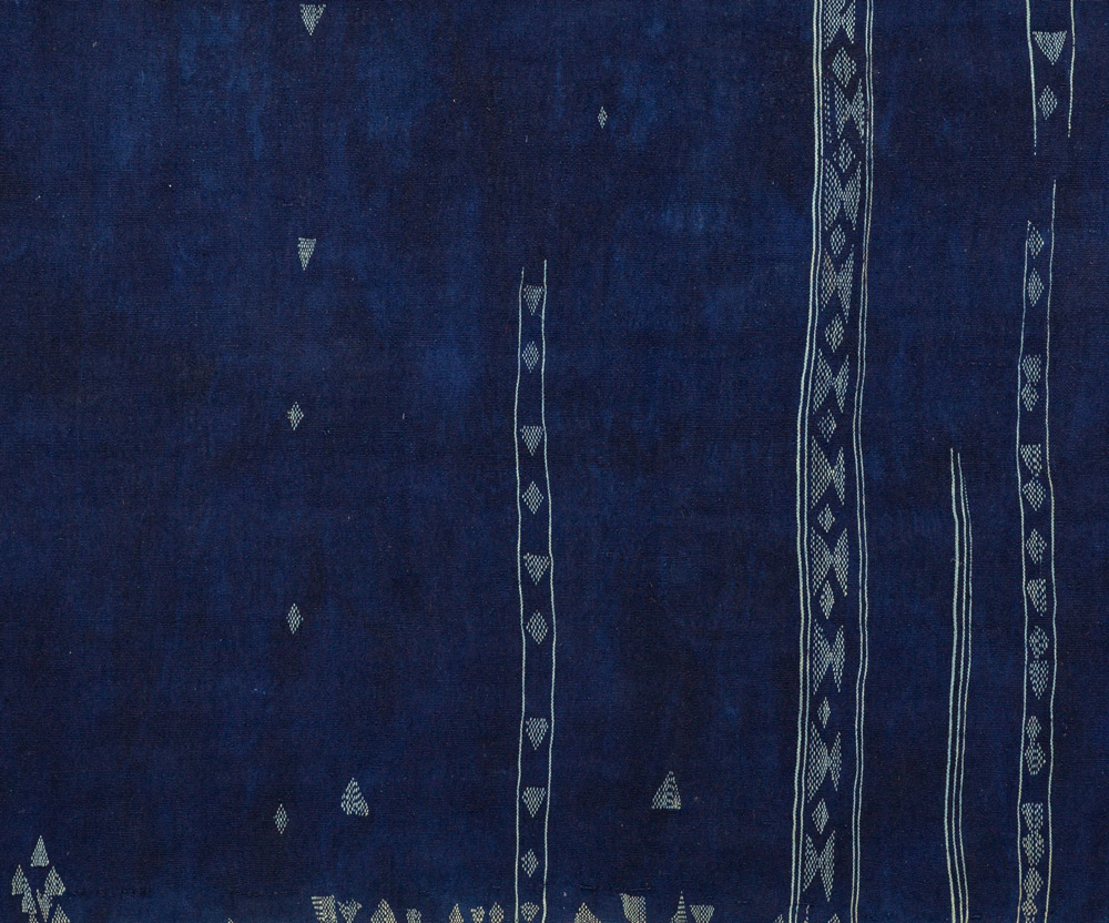 Indigo bakhnoug textile (detail), Tunisian Libyan border region, North Africa, Renate Anna Menzel Collection, copyright menzel.collection