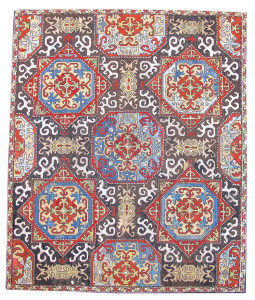 Caucasian embroidery, silk cross stitch, circa 1700. Peter Pap, San Francisco at NYICS