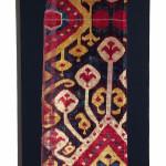 Silk velvet ikat fragment, mid 19th century, Dewitt Mallary