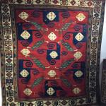 Kazak Pinwheel rug, circa 1850-1860, Yoruk Rug Gallery