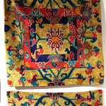 Pair of silk meditation mats, Tibet, circa 1900