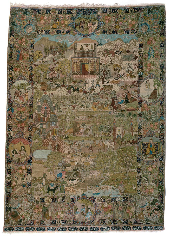 Four Season design rug, Tabriz, Ramezani