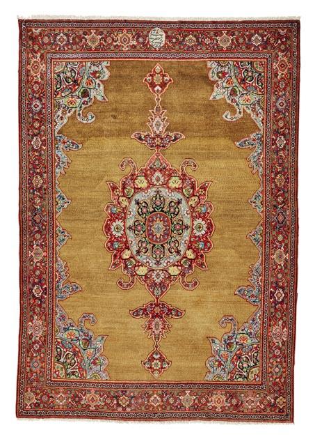 camel-hair-farahan-rug-west-persia-dated-1311-18945-inscribed-farmayesh-e-hazrat-e-sadr-azam-187-x-130cm