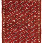 Tekke main carpet Turkmenistan, ca. 1800 7ft. 4 in. x 6ft. 2 in. Lot 11, Azadi Collection, Austrian Auction Company, 19 November, estimate: € 20.000 – 30.000