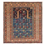 Chichi prayer rug, Caucasus, 19th century, dated 1267 (1849), 4ft. 9in. x 4ft. 4in. Lot 159, Austrian Auction Company, 19th November, estimate: € 6.000 – 8.000