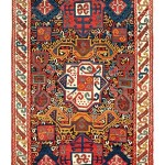 Zakatala rug, Caucasus, mid 19th century, 7ft. 7in. x 4ft. 6in. Lot 168, Austrian Auction Company, 19th November,estimate: € 20.000 – 30.000
