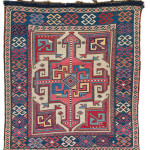 Shahsavan Bag Face, South East Caucasus, Moghan region, first half 19th century. Rippon Boswell, Wiesbaden, 3 December, lot 180, 55 x 60 cm estimate €4,500.00