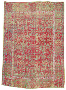 Mamluk carpet, North Africa, Egypt, first half 16th century. Rippon Boswell, Wiesbaden, 3 December, lot 37, The Wollheim Collection, 180 x 125 cm, estimate €14,000.00. Published, Schürmann, Ulrich, Oriental Carpets (London 1979, pl. p. 107)