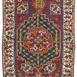 A Caucasian Prayer Rug, late 18th century.