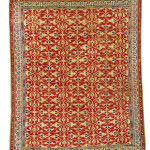 Lot 122, Ushak Lotto arabesque carpet, 16th century, est. £30-40,000, sold for £81,250 ($106,830), Alexander collection, Sotheby's London, Rugs and Carpets, 7 November 2017