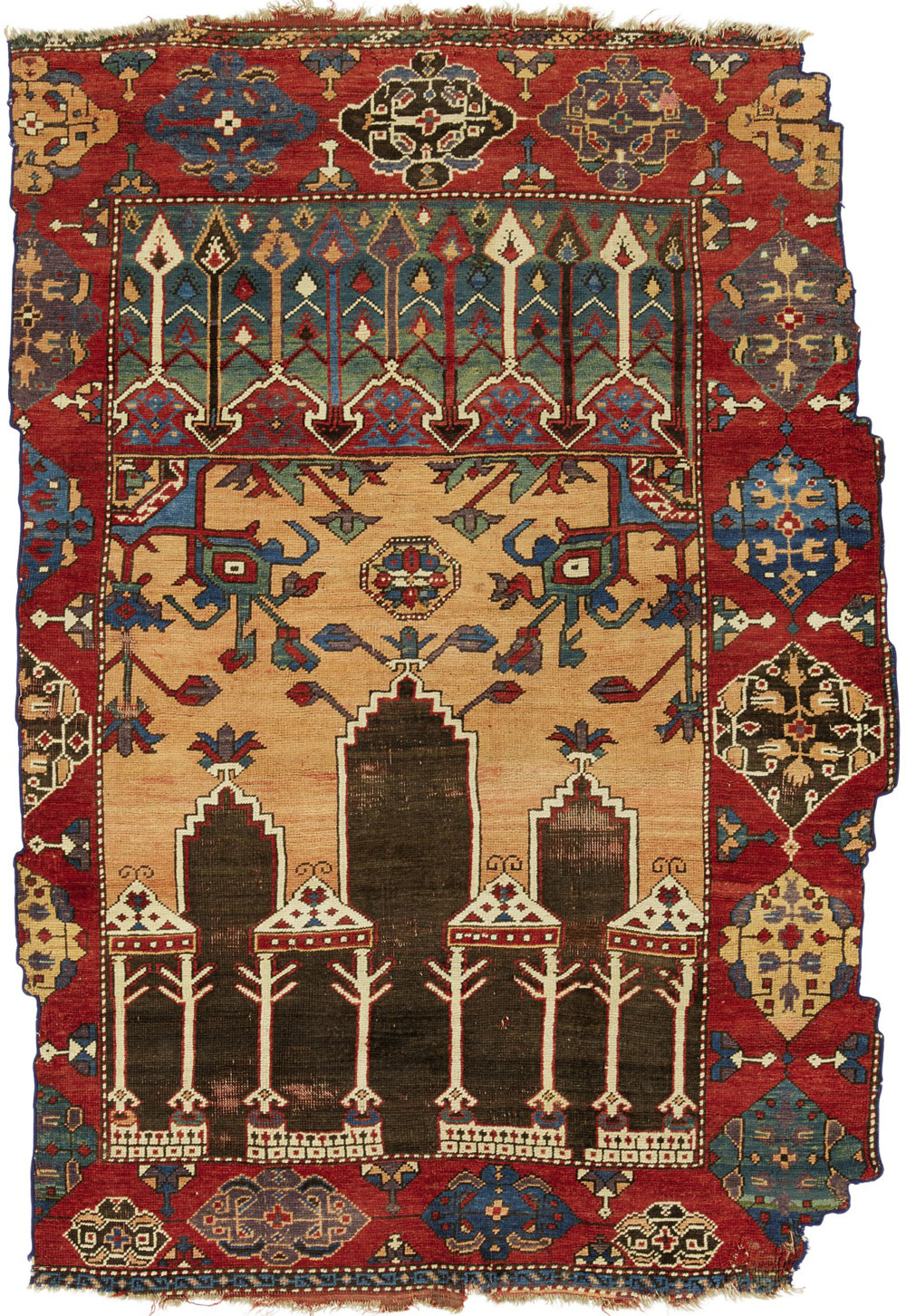 Lot-29_Konya-column-rug-(fragmentary)