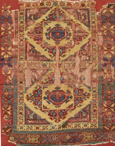 Lot 88 west Anatolian 'Holbein' rug fragment, possibly 18th century, est. £8,000-12,000), sold for £62,500 ($82,175), Alexander collection, Sotheby's London, Rugs and Carpets, 7 November 2017