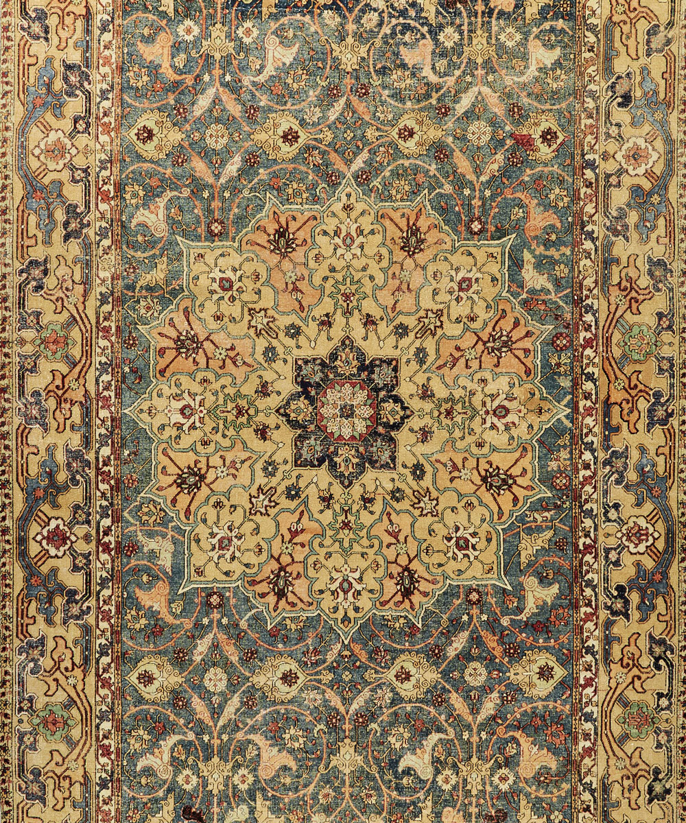 A Tabriz carpet.