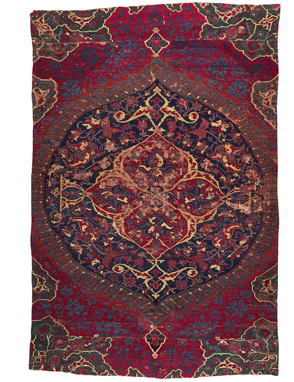 'Medallion' carpet fragment, Oushak